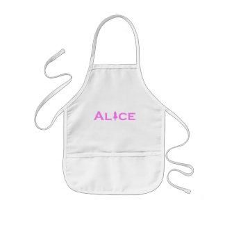 Alice dans le rose du pays des merveilles tablier enfant