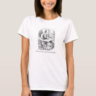 Alice dans le T-shirt d'illustration d'Absolem du