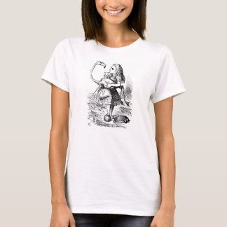 Alice dans le T-shirt d'illustration de flamant du