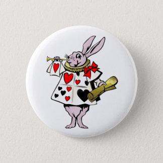 Alice dans les lièvres du pays des merveilles, la badge rond 5 cm