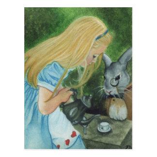 Alice en carte postale du pays des merveilles