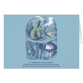 Alice et la carte de voeux horizontale de