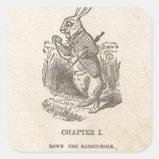 Alice in Sprookjesland, Hoofdstuk Één, onderaan Vierkante Sticker