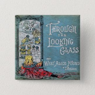 Alice par le psyché badge carré 5 cm