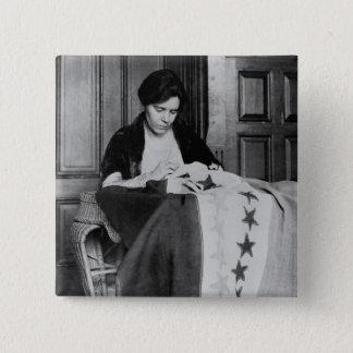 Alice Paul, drapeau de couture de suffrage, les Badge Carré 5 Cm