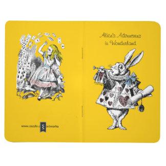 Alice vintage en journal de poche du pays des