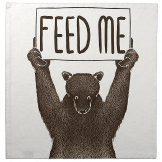 Alimentez-moi et dites-moi que je suis joli ours serviettes de table