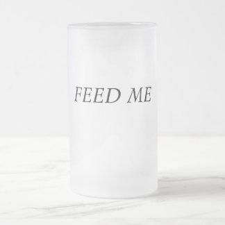 ALIMENTEZ-MOI FROSTED GLASS BEER MUG