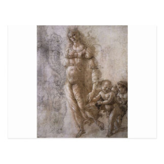 Allégorie de l'abondance par Sandro Botticelli Carte Postale