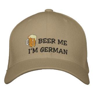 """Allemand drôle """"je suis bière allemande je"""" casquette brodée"""
