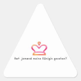 Allemand - reine sticker triangulaire