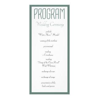 Allen u wenst is het Programma van het Huwelijk
