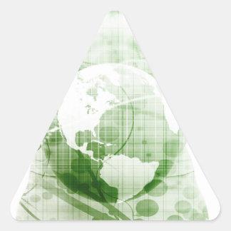 Aller en avant de pair avec le succès commercial sticker triangulaire