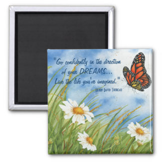 Allez avec confiance… - Aimant de papillon de mona