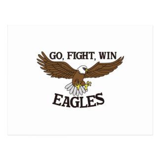 Allez, combattez, gagnez Eagles Carte Postale