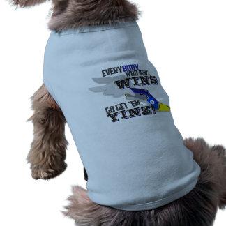 Allez les obtiennent, réservoir bleu d'animal manteaux pour animaux domestiques