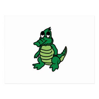 Alligator mignon carte postale