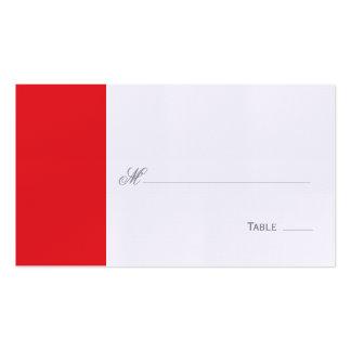 Allocation des places de Tableau/carte rouges élég Carte De Visite Standard