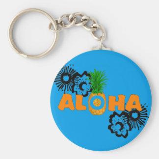 Aloha ananas - cadeaux orientés hawaïens porte-clés