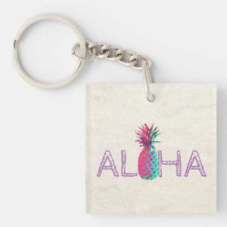 Aloha ananas hawaïen adorable porte-clés
