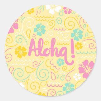 Aloha autocollant hawaïen mignon d'été