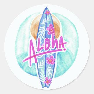 Aloha autocollants de surfer d'Hawaï