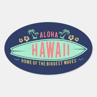 Aloha autocollants hawaïens de surfer
