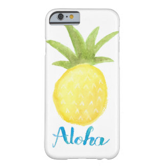 Aloha cas de l'iPhone 6/6s d'aquarelle d'ananas Coque Barely There iPhone 6