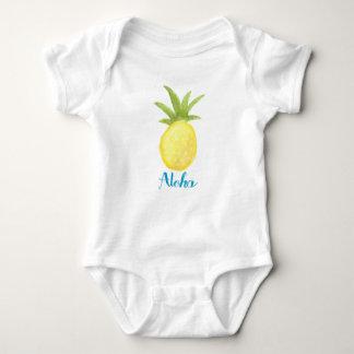 Aloha chemise de nourrisson d'aquarelle d'ananas body