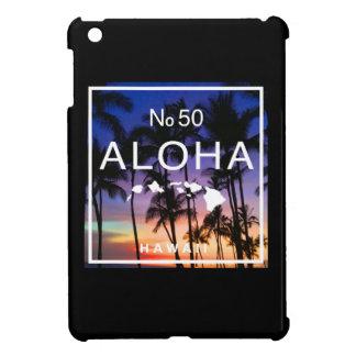 Aloha coque ipad de coucher du soleil d'état de