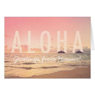 Aloha de la carte d'Hawaï