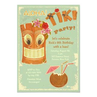 Aloha invitation de partie de Tiki