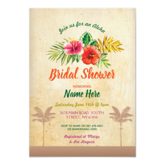 Aloha invitation vintage tropical de Luau de