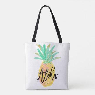 Aloha sac fourre-tout tropical à mariage d'ananas