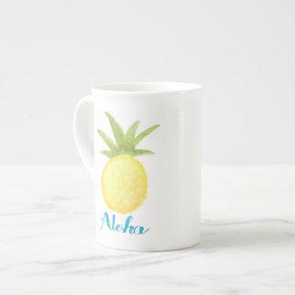 Aloha tasse de porcelaine tendre d'aquarelle