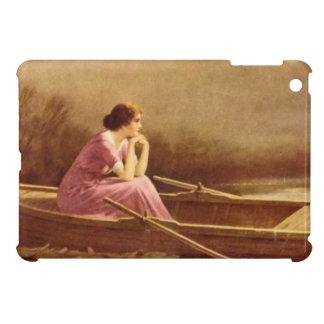 ALONE/Lady sur un bateau/art vintage Coques Pour iPad Mini