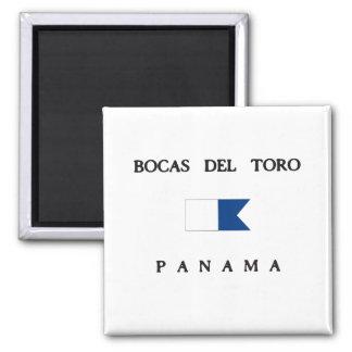 Alpha drapeau de piqué de Bocas Del Toro Panama Aimant