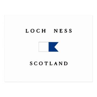 Alpha drapeau de piqué de Loch Ness Ecosse Carte Postale