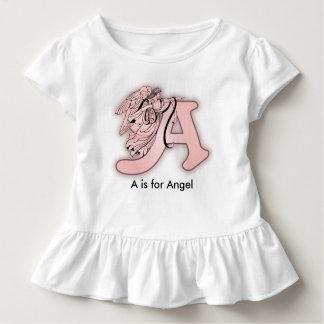 Alphabet d'ange un monogramme initial t-shirt pour les tous petits