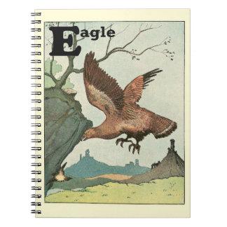 Alphabet de livre d'histoire d'Eagle d'or