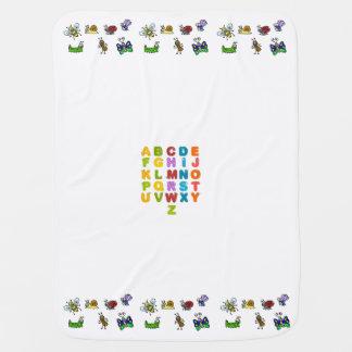 Alphabet et couverture de bébé d'insectes de