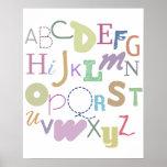alphabet (pastels) affiche