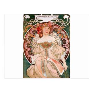 Alphonse Mucha : Rêverie (Rêverie) Carte Postale