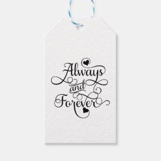 Altijd en voor altijd, Huwelijk of Valentijnsdag Cadeaulabel