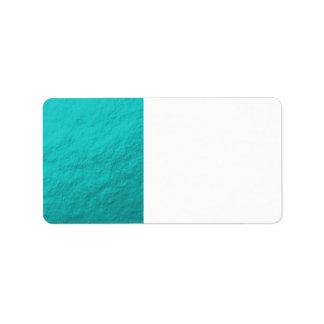 Aluminium bleu d'Aqua cyan imprimé Étiquettes D'adresse