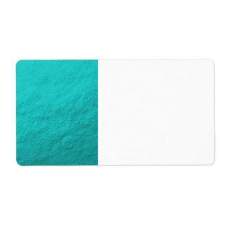 Aluminium bleu d'Aqua cyan imprimé Étiquettes D'expédition