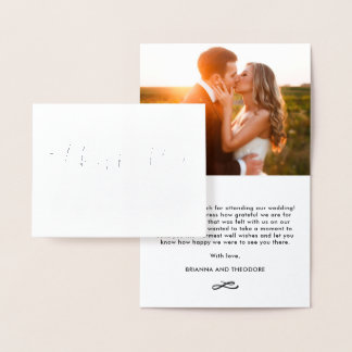 ALUMINIUM en lettres de carte photo de Merci de