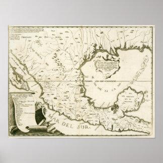 Alzate y Ramírez. Carte de la nouvelle Espagne.