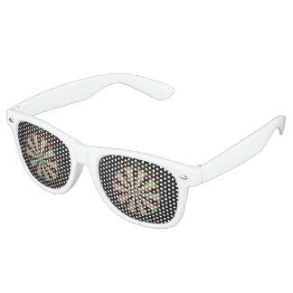 Amant de cible lunettes de fête retro