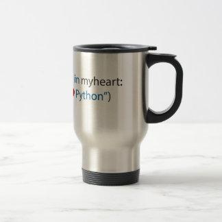 Amant de python amant - et de café mug de voyage en acier inoxydable